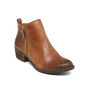 Lucky Brand Basel bootie brown size 8
